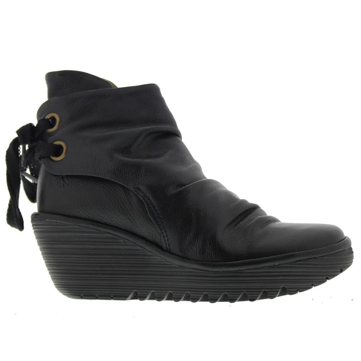 Men's/Women's Fly London Yama Black Womens Boots Practical and economical Primary quality Export