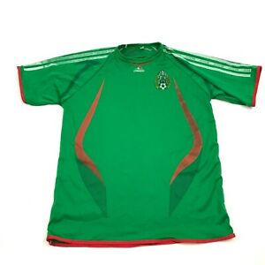 VINTAGE Mexico Soccer Jersey One Size XS - S Adult Green Red Dry Fit Tee Futball
