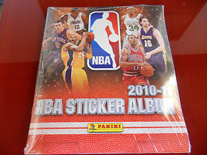 Basket-2010-11-Sticker-Album-Panini-Sealed-with-all-stickers-New-Rare-NBA