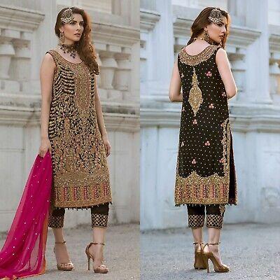 Sana Safinaz Pakistani Wedding Dress Designer Suit Latest Net Collection Shalwar