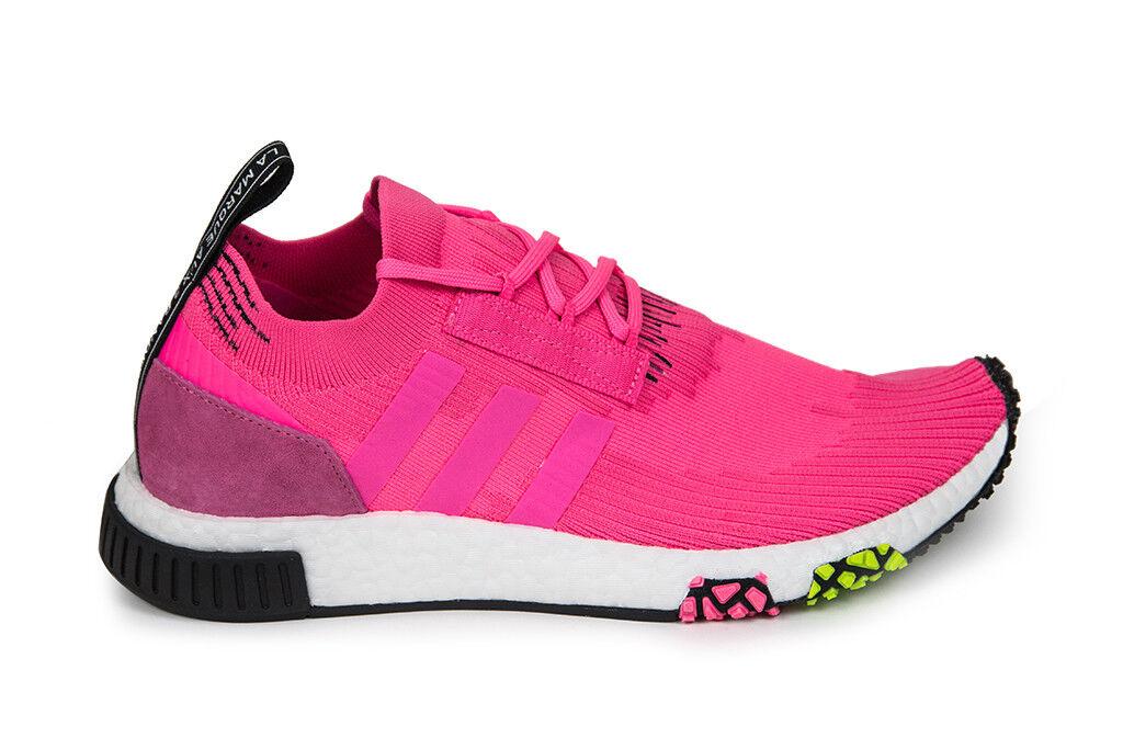 Adidas Originals NMD_Racer CQ2442 Primeknit in Solar Pink/Core Black CQ2442 NMD_Racer Free Ship 1cc4cf