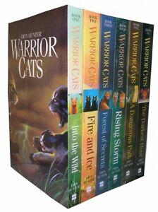 Warrior-Cats-Series-1-The-Prophecies-Begin-Collection-Erin-Hunter-6-Books-Set