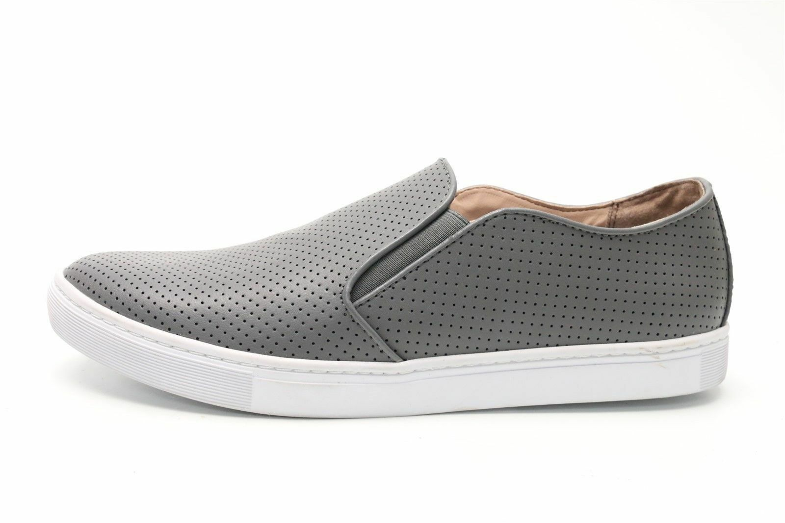 PUBLIC OPINION MENS SLIP ONS GREY LEATHER UPPER New SZ 11.5 M
