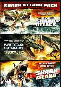 2 HEADED SHARK ATTACK + MEGA SHARK VS CROCOSAURUS + SHARK ISLAND [Y]