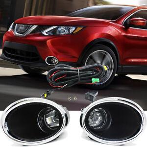 100% De Qualité For 2017 2018 Nissan Rogue Sport Fog Light Lamp W/bulb+switch+harness+bezel/1set Beau Lustre