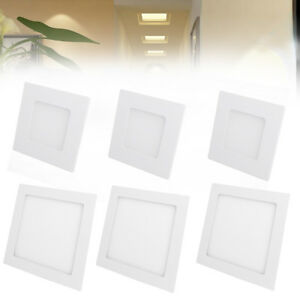 UK-15W-Square-LED-Recessed-Ceiling-Panel-Light-Slim-Wall-Mounted-Warm-White-Lamp