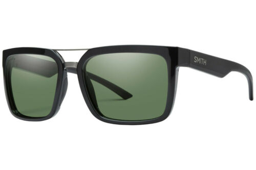 Smith Highwire Black Gray Green Polarized ChromaPop D28 L7 Sunglasses
