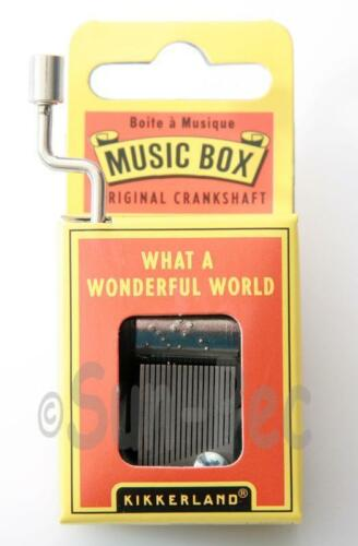Novelty Hand Crank Music Box Kikkerland Wind-Up Melody Gift New Various Melodies