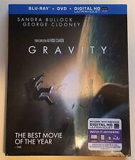 Unused Gravity DVD + Digital Ultraviolet HD Stream, Blu-Ray Case and Artwork