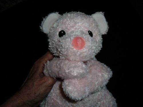 Ty Baby Pink Pillow Pal Cuddlecub Bear w Rattle Tysilk Floppy Stuffed Animal Toy