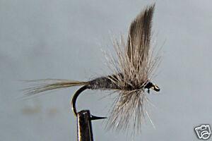 1 x Mouche Sèche Subimago Bleue H14//16//18 hackle dry fly fishing mosca fliegen
