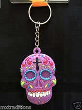 DAY OF THE DEAD SUGAR SKULL KEY CHAIN. LLAVERO DE DIA DE MUERTOS CALABERA
