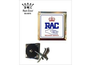 ROYALE SQUARE CAR GRILL BADGE - ROYAL AUTOMOBILE CLUB RECOVERY SERVICE B3.0075