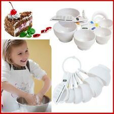 Baking 7 pcs Measuring Cups Set TALA White Quality Kitchen Hand Tool Plastic Cup
