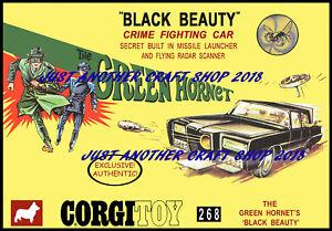 Corgi-Toys-268-El-Avispon-Verde-1968-A4-CARTEL-ANUNCIO-FOLLETO-Tienda-Signo-de-pantalla