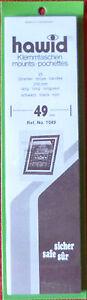 HAWID-STAMP-MOUNTS-49mm-BLACK-Pack-of-25-Strips-210mm-x-49mm-Ref-No-1049