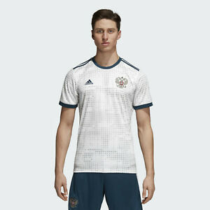 Details about Adidas Soccer Russia Away Jersey White 2018 World Cup Size Medium BR9067