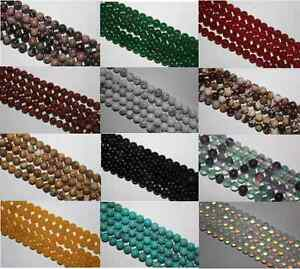16-034-Strand-Semi-Precieux-gemme-ronde-PERLES-CRISTAL-8-mm-45-To-50-perles