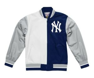online store a520d 22cac Details about Mitchell & Ness Split MLB New York Yankees Team History Warm  up Jacket - Navy