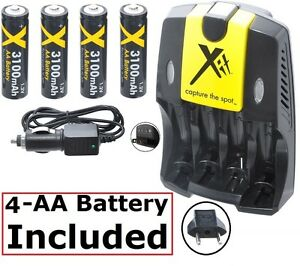 Olympus FE-110 Digital Camera Battery Charger Replacement Charger for AA and AAA Battery 110//220V Includes a EU Adapter