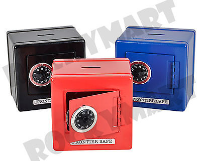 """Color Metal Safe Piggy Bank Frontier with Combination Lock & Coin Slot 6"""" RM2611"""