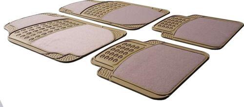 Beige//Cream Half Rubber Carpet Car Floor Mat Mercedes A B C E S Class