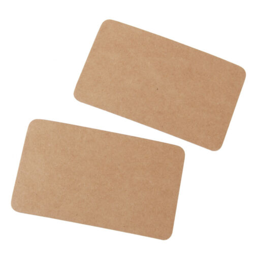 100x Rustic Rectangle Kraft Paper Bonbonniere Wedding Gift//Paper Tags Brown