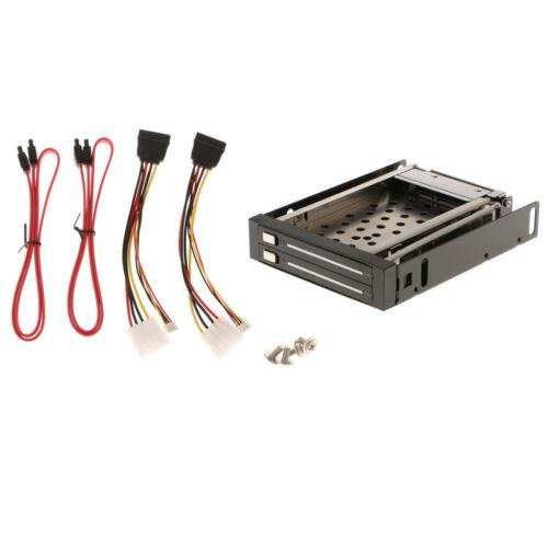 2.5/'/' Trayless Hot Swap SATA Mobile Rack Backplane Dual Drive SATA Enclosure