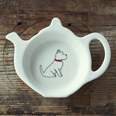 Tea Bag Holder Dish Spoon RestWESTIEGreat Gift for Dog LoversFREE P/&P