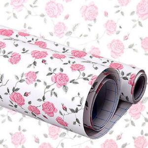 Diy Pink Peony Floral Self Adhesive Drawer Liner Contact