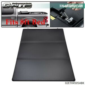 Lock Tri-Fold Hard Solid Tonneau Cover Fit For 1988-2007 Chevy Silverado 8Ft Bed