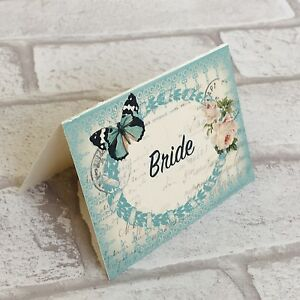 Image Is Loading Wedding Table Guest Place Name Cards Vintage Erfly