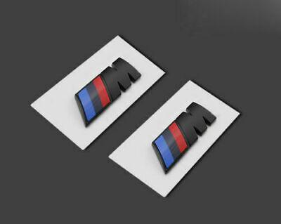 2 M Black Skirt Side Badge Fender Emblems Sticker BMW M For M M1 M3 M5