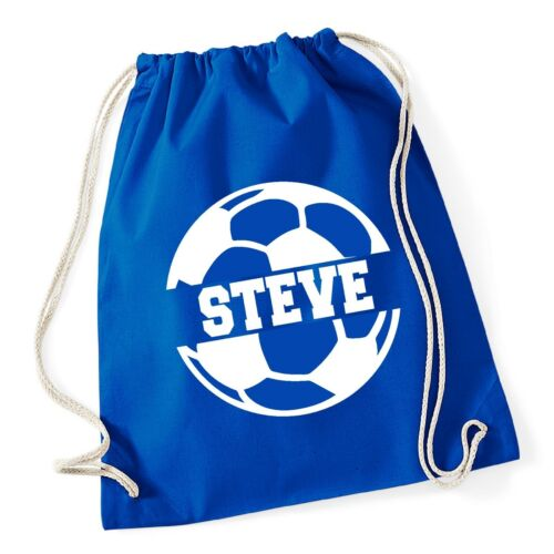 Personalised Name Cotton SPLIT Football Bag Drawstring School Club PE Custom