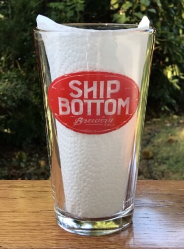 SHIP BOTTOM Brewery Beer Pint Glass Beach Haven New Jersey