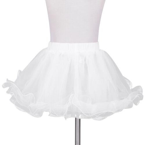 Kids Petticoat Flower Girls Crinoline Shirt Underskirt Party Wedding Dress Slips
