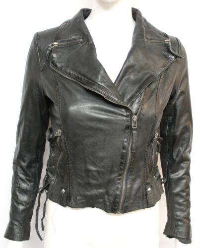 en cuir Punk Ladies Casual Black Lace Hillary Designer Lace veste courte 76PqwYn