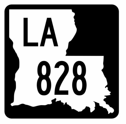 Louisiana State Highway 828 Sticker Decal R6128 Highway Route Sign