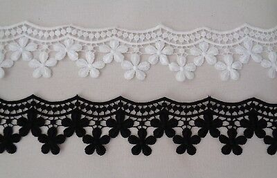 Red Floral eyelash style lace trim sewing lace trim dress trimming Per Yard