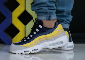 Details about MENS NIKE AIR MAX 95 ESSENTIAL SIZE 9.5 EUR 44.5 (749766 107)WHITE GREYLEMON