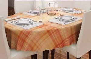 Meterware-Wachstuch-Tischdecke-Tischtuch-abwaschbar-mandarine-Karo-385-4480