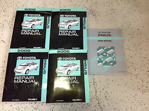 2006 toyota prius service shop repair workshop manual set. Black Bedroom Furniture Sets. Home Design Ideas