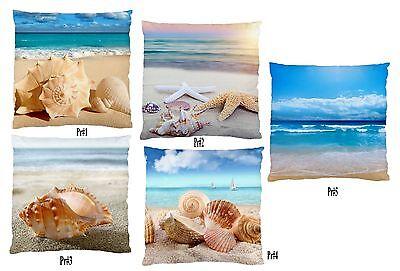 "Image 2Sides Soft Feel-Beach Shells Unit/Home Decor Cushion Case 60cm -20"" BN"