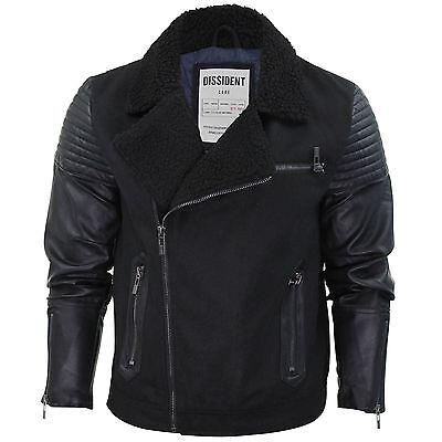 Mens Jacket Dissident 'Maguire' Melton Aviator Style Hooded Padded Coat