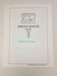 Husqvarna Viking #1 1200 1100 1090 1070 1050 Sewing Service Repair Manual Book