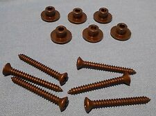 NEW SET OF 6 BLACK NECK MOUNTING FERRULES + SCREWS FROM WASHBURN 4 BASS GUITAR