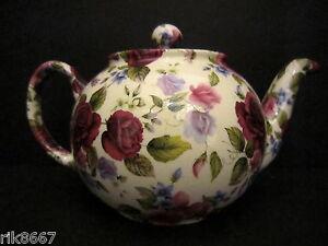1-Heron-Cross-Pottery-Summer-Rose-Chintz-English-3-Cup-Tea-Pot-or-2-mugs