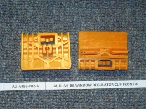 Audi A4 2002-2005 Window Regulator Repair Clips FRONT 2x B6 Left//Right