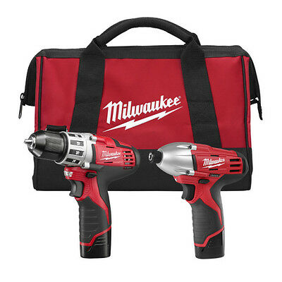 Milwaukee M12 12V Li-Ion 2-Tool Combo Kit 2494-22 Reconditioned