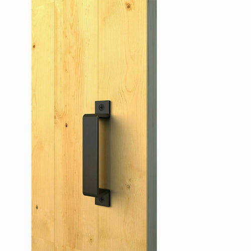 Carbon Steel Sliding Barn Door Pull Flush Handle Gate Hardware Set Heavy Duty